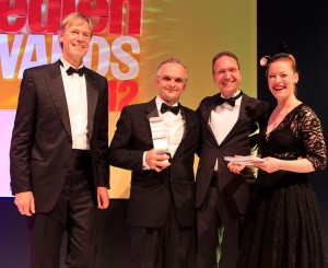 Das Druckstudio-Team bei der Verleihung des Preises
